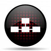stock photo of cisco  - database red glossy web icon  - JPG