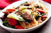foto of stir fry  - decadent thai beef stir fry pad see ew style - JPG