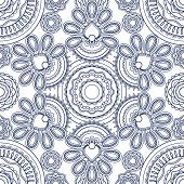 pic of motif  - Vintage vector decorative hand drawn background with Islam - JPG