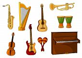 ������, ������: Large set of various musical instruments