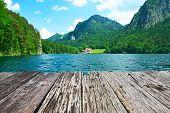 pic of bavaria  - Alpsee lake at Hohenschwangau near Munich in Bavaria - JPG