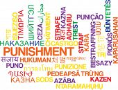 picture of punishment  - Background concept wordcloud multilanguage international many language illustration of punishment - JPG