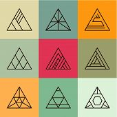 picture of pyramid shape  - Set of geometric shapes - JPG