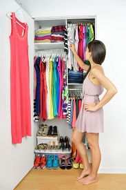 stock photo of in front  - Home closet  - JPG