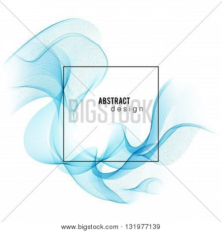 poster of Blue Color smoke wave. Transparent wave. Abstract smooth wave vector. Blue wave. Wave blue. Smoke blue wave. Vector blue wave. Blue wave lines. Vector lines. Abstract lines. Lines