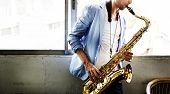 Alto Saxophone Artist Classical Jazz Musician Sax Concept poster