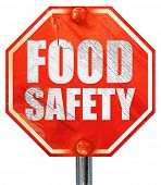 food safety, 3D rendering, a red stop sign poster