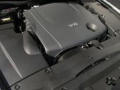 image of luxury cars  - Luxury automobile clean v6 engine close up - JPG