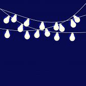Set Of Overlapping, Glowing String Lights. Christmas Glowing Lights. Glowing Lights For Party, Holid poster