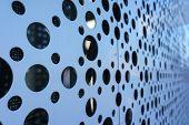 LED Media Facade Close up, LED light, Exterior Facade Light, LED Pixels Architectural Media Lights,  poster