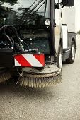 picture of sweeper  - street sweeper - JPG