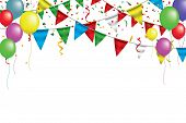 White Paper Banner For Carnival.happy Birthday Typography Vector Design For Greeting Cards And Poste poster