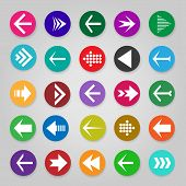 Website Arrow Buttons. Vector Up, Undo And Directional Arrows, Infographic Arrow Icons poster