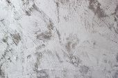 Vintage Gray Textured Putty On Wall. Rough Grunge Wall Background. poster