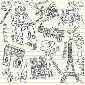 image of moulin rouge  - Sightseeing in Paris doodles - JPG