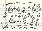 picture of campervan  - Sea doodles - JPG