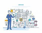 Job Plan. Time Management, Planning, Control, Organization, Optimization Work Time. Analysis Of Resu poster