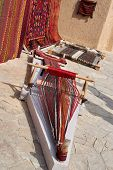 Weaving Machine For Carpet. Weaving Machine Is The Main Weaving Machine, Equipment Or Device For Man poster