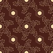 Abstract Geometric Background, Vector Seamless Pattern, Ornamental Wallpaper, Elegant Ornament For W poster