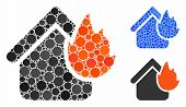 Home Fire Disaster Composition Of Filled Circles In Variable Sizes And Shades, Based On Home Fire Di poster