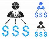 Businessman Expenses Composition Of Small Circles In Different Sizes And Color Tinges, Based On Busi poster