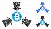 Bitcoin Collect Arrows Composition Of Round Dots In Variable Sizes And Shades, Based On Bitcoin Coll poster