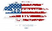 Veterans Day. Poster Or Banner Veterans Day With U.s.a Flag Background. poster