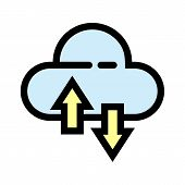 Cloud Icon Isolated On White Background From Analytics Collection. Cloud Icon Trendy And Modern Clou poster