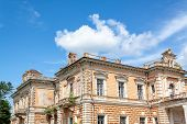 Palace of Leszczynski, Sumy region. The palace was built in 1890 in a classical style poster