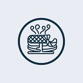 Hot Dish Icon In Two Color Design Style. Hot Dish Vector Icon Modern And Trendy Flat Symbol For Web  poster