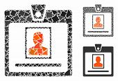 Person Badge Composition Of Joggly Pieces In Various Sizes And Color Tinges, Based On Person Badge I poster