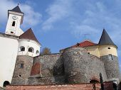 pic of zakarpattia  - The Palanok Castle walls and towers - JPG
