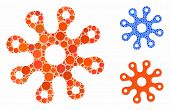 Virus Composition Of Round Dots In Different Sizes And Color Tinges, Based On Virus Icon. Vector Rou poster