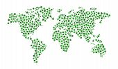 World Map Composition Of Cannabis Leaves.vector World Map Composed Of Green Leaves Of Marijuana In A poster
