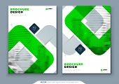 Green Brochure Design. A4 Cover Template For Brochure, Report, Catalog, Magazine. Brochure Layout Wi poster