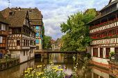 Traditional Alsatian Half-timbered Houses In Petite France, Strasbourg, France poster