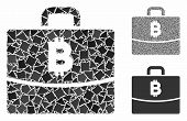 Bitcoin Accounting Case Mosaic Of Tuberous Parts In Variable Sizes And Color Hues, Based On Bitcoin  poster