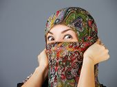 picture of feeling stupid  - Arab women in hijab in anger - JPG