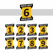 Countdown Banners Or Badges For Landing Page. One, Two, Three, Four, Five, Six, Seven, Eight, Nine O poster