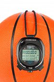 pic of inference  - A basketball sports theme with a digital stopwatch for use with most sports inferences where games are timed - JPG