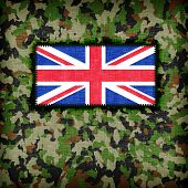 pic of ami  - Amy camouflage uniform with flag on it UK - JPG