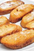 stock photo of lent  - closeup of a plate with torrijas - JPG