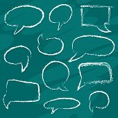 Chalk Speech Bubbles