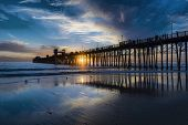 pic of mile  - Sunset at the Oceanside Pier  - JPG