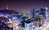 stock photo of seoul south korea  - view of Seoul - JPG