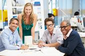 stock photo of 50s  - Portrait Of Team In Creative Office - JPG