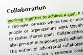 image of collaboration  - Collaboration item on paper with a highlighter - JPG