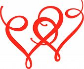 stock photo of two hearts  - Two lovely hearts is good for tattoo - JPG