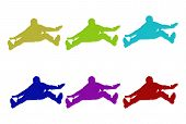 Furry Jumping Silhouettes poster