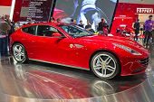 GENEVA - MARCH 8: The Ferrari FF on display at the 81st International Motor Show Palexpo-Geneva on M